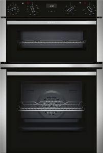 Neff U1ACI5HN0B N50 Built-in Double Oven In Stainless Steel
