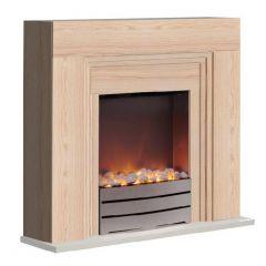 Warmlite York WL 45011BEECH Fireplace Suite