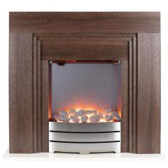 Warmlite 45011 York Oak Fireplace Suite