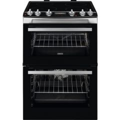 Zanussi ZCI66278XA Black Cooker With Induction Hob