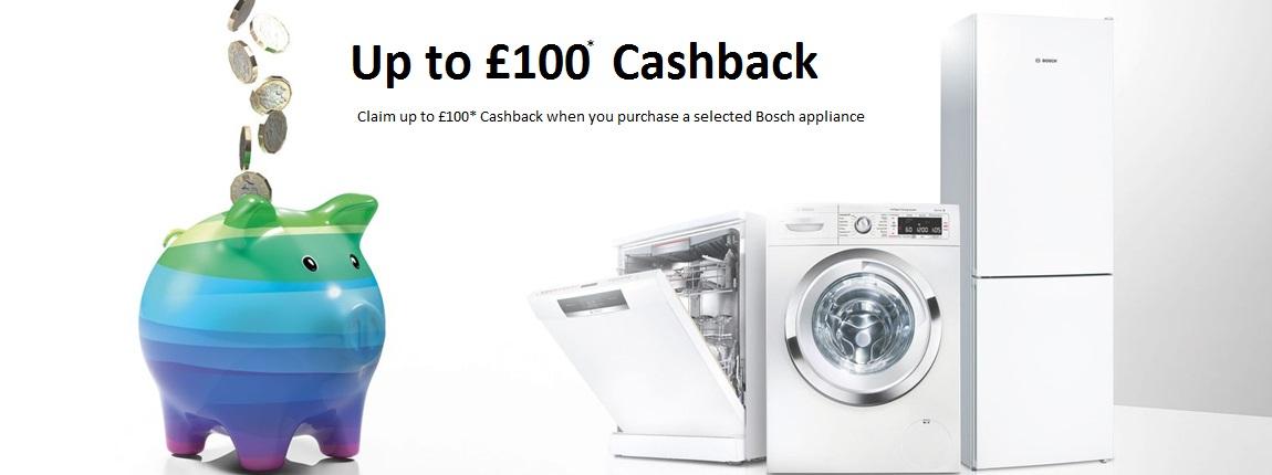Bosch Cashback upto £100 Promotion