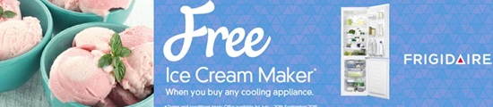Frigidaire Free Ice Cream maker
