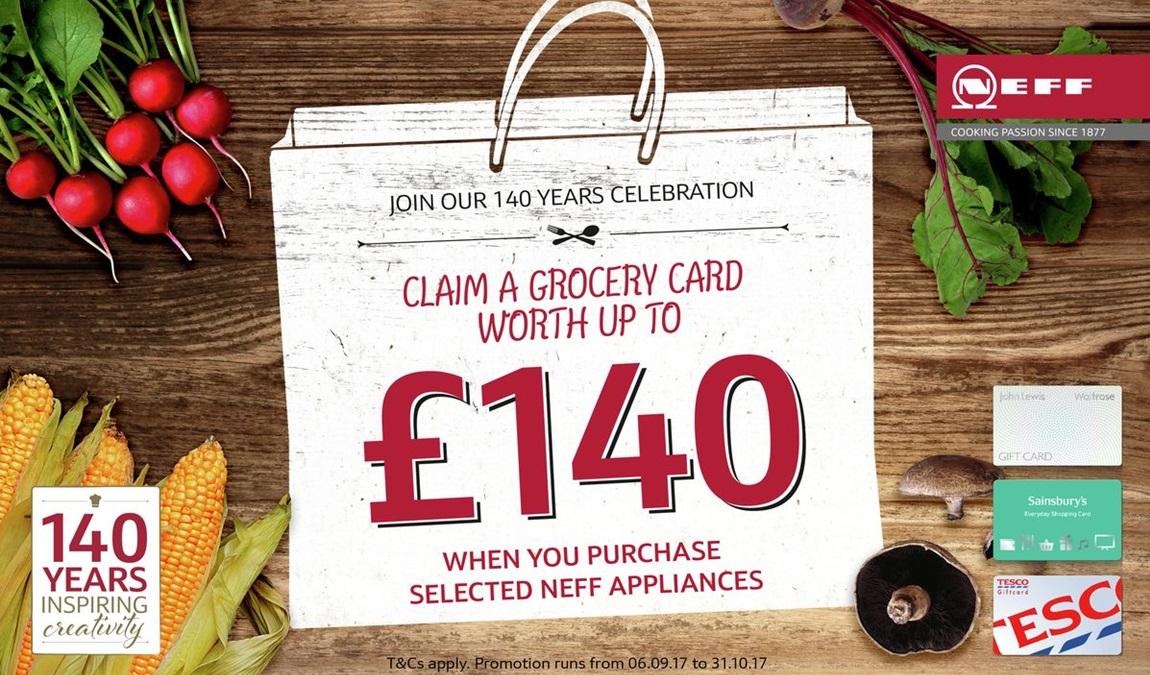 Neff upto £140 Grocery Card