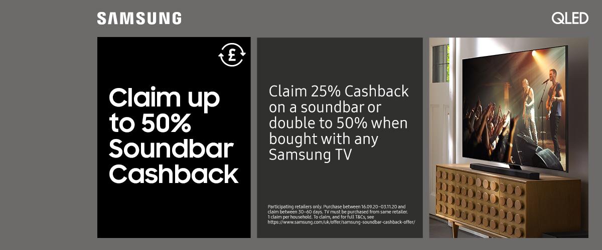 Samsung Soundbar Cashback Promotion
