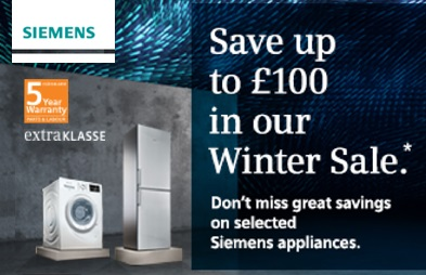 Siemens Winter Sales 2016, up to £100