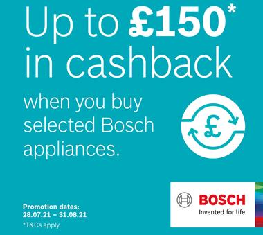 Bosch upto £150 Cashback