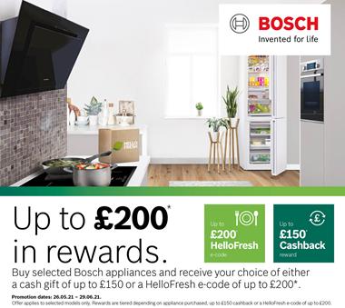 Bosch upto £200 Reward