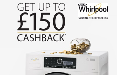 Whirlpool up to £150 Spring Cashback Promotion